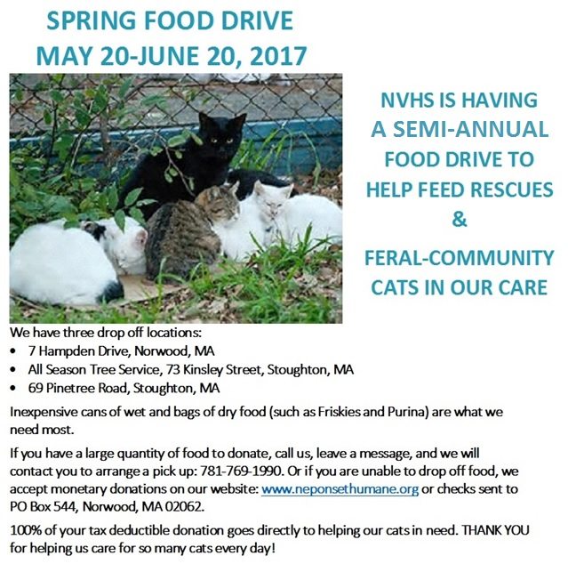 Spring food drive UPDATED 2017