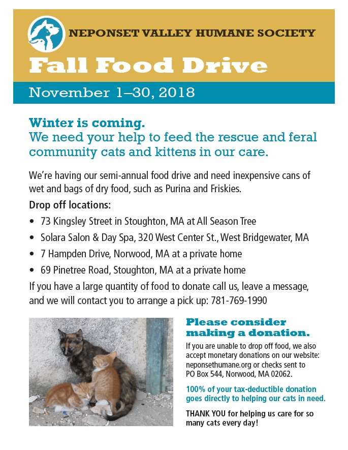 Fall Food Drive poster in JPEG